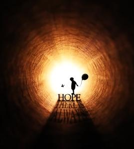 Hope is the sun rising again.
