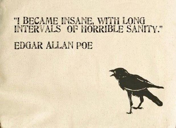 Edgar Allan Poe Sanity Quote